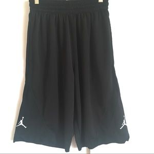 Nike Jordan Basket Ball Black Shorts size Small